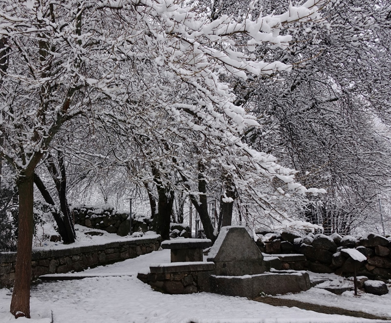 Fuente de Varela, construida en homenaje al fotógrafo cuya obsesión artística fue Cercedilla.
